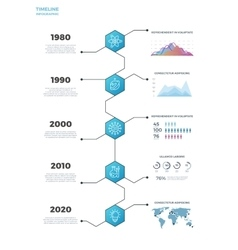 Timeline business infographics vector image vector image