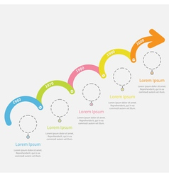 Timeline infographic upwards arrow with screw vector
