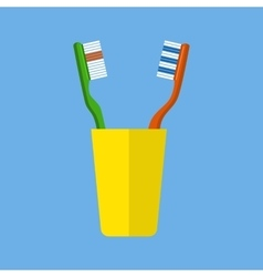 Tooth brush vector image vector image