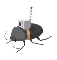 Video spy bug cartoon icon vector