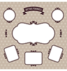 Vintage background photo frames vector image vector image