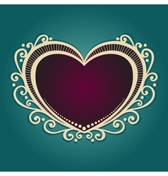 Vintage card with heart vector