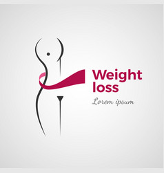 weight loss concept vector image vector image