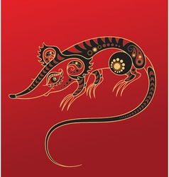 Chinese horoscope year of the rat vector