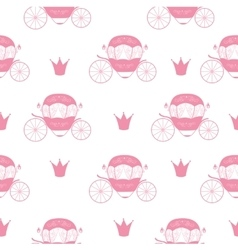 Princess Cinderella Fairytale Carriage Seamless vector image