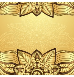 Gold-brown vintage frame vector image