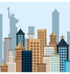 New york city cityscape vector