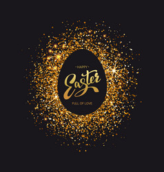 Easter symbol on luxury black background vector