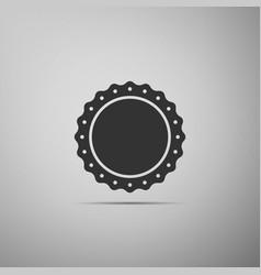 quality emblem flat icon on grey background vector image