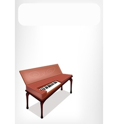 A retro clavichord with a white banner vector