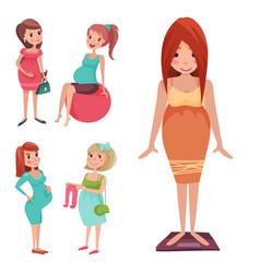 Pregnancy motherhood people expectation concept vector