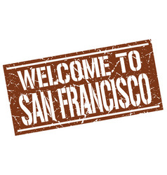 Welcome to san francisco stamp vector