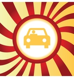 Car abstract icon vector