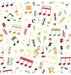 Colourful music signs and note on white vector