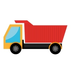 Colorful cargo truck graphic vector