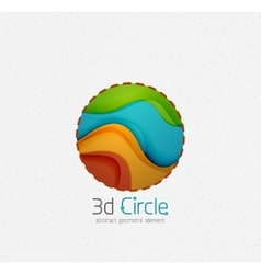 Abstract brand logo design on white circle with vector