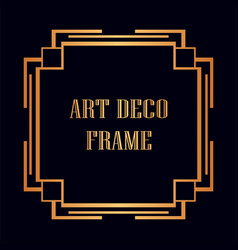 Art deco frame vector