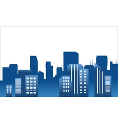 Cartoon silhouette of the city vector
