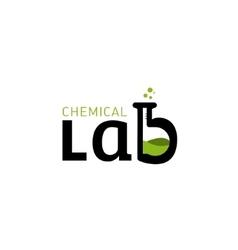 Chemical lab logo letter b as a glass bulbs vector