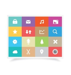 Colorful Icons Set vector image vector image