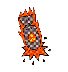 comic cartoon atom bomb vector image