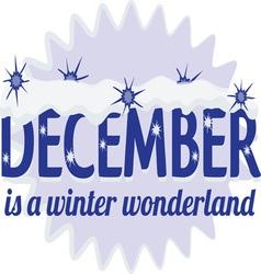 December wonderland vector