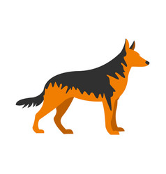 German shepherd dog icon flat style vector
