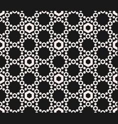 hexagons texture geometric seamless pattern vector image