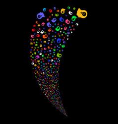Intellect bulb random stream vector