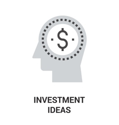 investment ideas icon concept vector image vector image