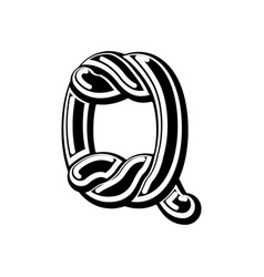 letter q celtic font norse medieval ornament abc vector image vector image