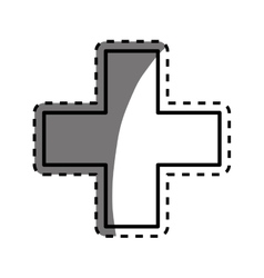 Medical cross symbol vector image