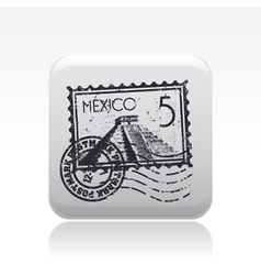 mexico stamp vector image