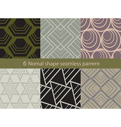 Normal shape seamless pattern vector image vector image