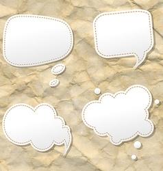 Orange Hand Draw Speech Bubble vector image