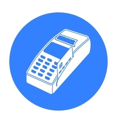 Pos terminal icon in black style isolated on white vector