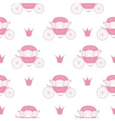 Princess cinderella fairytale carriage seamless vector