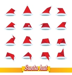 Santa hat flat icon vector image