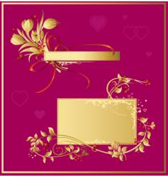 set of valentine decorations vector image vector image