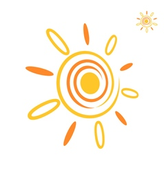 Sunray icon vector