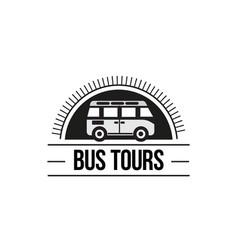 the bus trip logo vector image