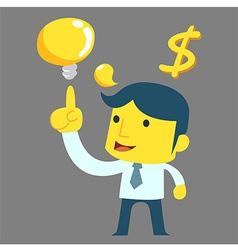 Think man money vector