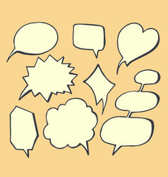 thought bubbles hand drawn vector image vector image