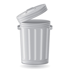 trash can 03 vector image vector image