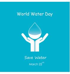 water drop with human hand logo design vector image vector image