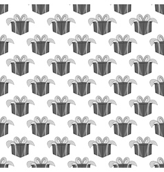 Gift box seamless pattern vector