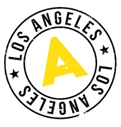 Los Angeles stamp vector image