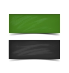School board banner set vector image