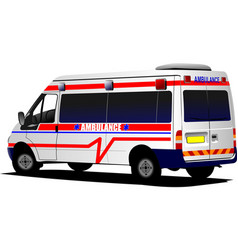 modern ambulance van over white colored vector image