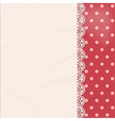 Lace panel border background vector